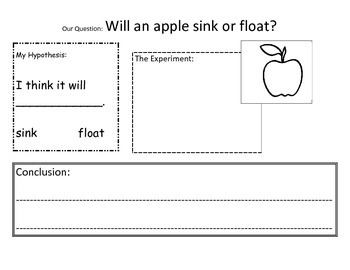 Apple Float Science Experiment