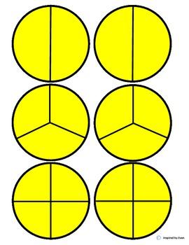 Apple Fraction Circles/Cut & Paste for Autism