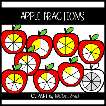 Apple Fractions Clipart