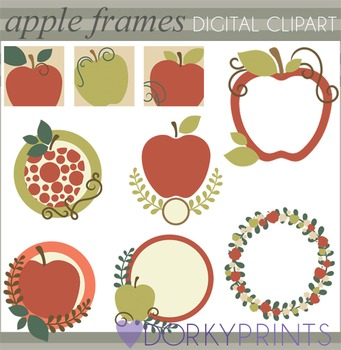 Apple Frames Clip Art