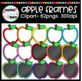 Apple Frames Clipart {white & chalkboard fill}