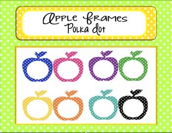 Apple Frames:  Polka Dots