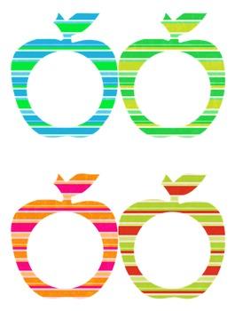 Apple Frames:  Summer Stripes