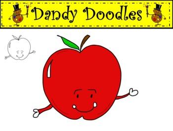 Apple Freebie Clipart by Dandy Doodles