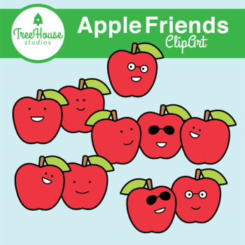 Apple Friends Clip Art