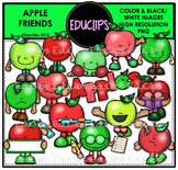Apple Friends Clip Art Bundle {Educlips Clipart}