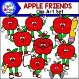 Apple Friends Clip Art Set - Doodle Patch Designs