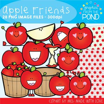 Apple Friends Clipart Set