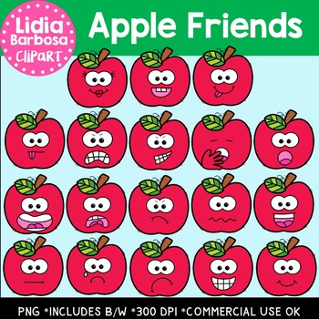 Apple Friends Digital Clipart
