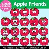Apple Friends Digital Clipart