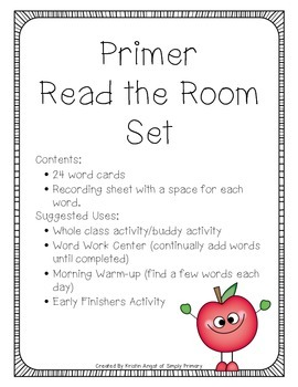 Apple Friends Write the Room Print and Go