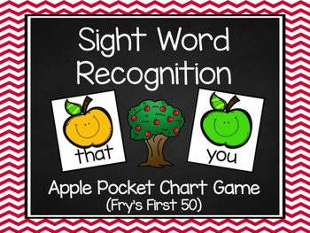 Apple Fry's First 50 Sight Word Game