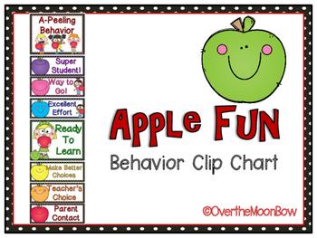 Apple Fun Behavior Clip Chart