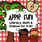 Apple Fun! {Common Core Aligned Math, Literacy & Science Unit for K-1st}