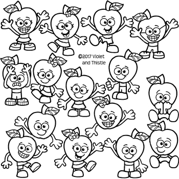 Apple Kids Clipart Emotions Expressions Clipart Clip Art