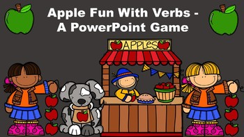 Apple Fun With Verbs - A PowerPoint Game