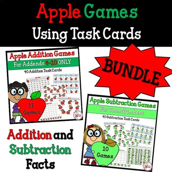 Apple Games for Addition and Subtraction Bundled
