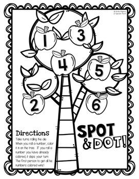 Apple Games with Printables for Pre-K, Kindergarten, Preschool, PreK