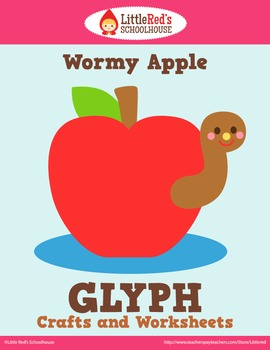 Apple Glyph Craft and Worksheets