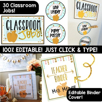 Apple & Glitter Classroom Decor