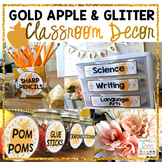 Apple & Glitter Classroom Decor