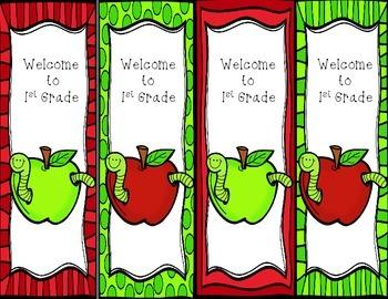 Apple Grade Level Bookmarks
