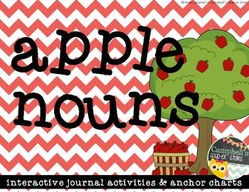Apple Nouns {Interactive Literacy Journal}