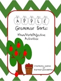 Apple Grammar Sorts: Nouns / Verbs / Adjectives
