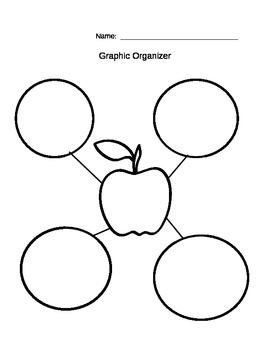 apple graphic organizer bubble map by allison kress tpt. Black Bedroom Furniture Sets. Home Design Ideas