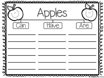 Apple Graphic Organizers {FREE}
