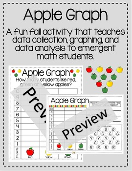 K, 1st, 2nd Grade Apple Graphing
