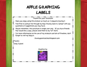Apple Graphing Labels: Freebie