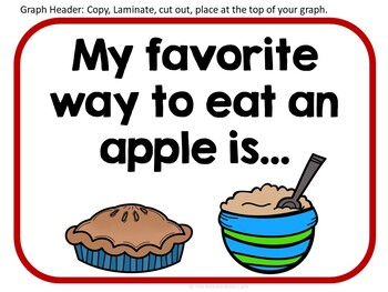 Apple Graphing Pocket Chart Activities