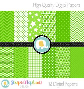 Apple Green Digital Papers