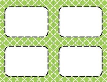 Apple Green Tile Classroom Labels