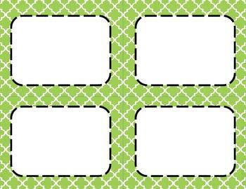 Apple Green Tile Classroom Labels