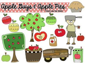 Apple Guys & Apple Pies Clip Art