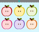 Apple halves fruit clipart commercial use