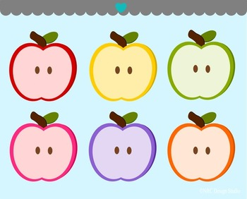 Apple Halves Clip Art