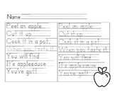 Apple Handwriting Poem