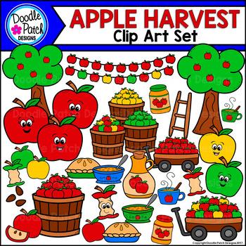 Apple Harvest Clip Art Set - Doodle Patch Designs