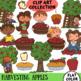 Apple Harvest Fall Clip Art Set