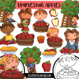 Apple Harvest Fall Clip Art Set