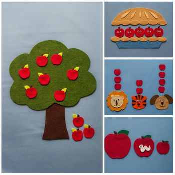 Apple Harvest Felt Flannel Board Pattern eBook Autumn Harvest