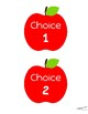 Apple Harvest Theme Lunch Choice Signs
