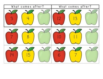 Apple Harvest - What Comes Before, After, and in the Middle Activity