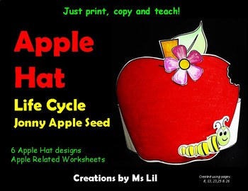 Apple Hat  ::  Apple Life Cycle Hat  ::  Jonny Apple Seed Hat