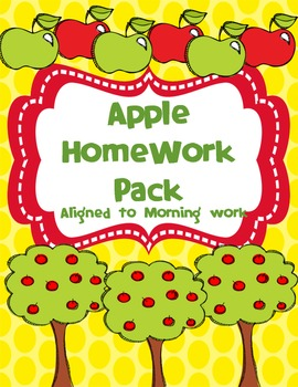 Apple Homework Pack (Editable)