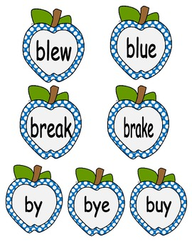 Homophone Apple Cards