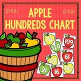 Apple Hundreds Chart Number Cards